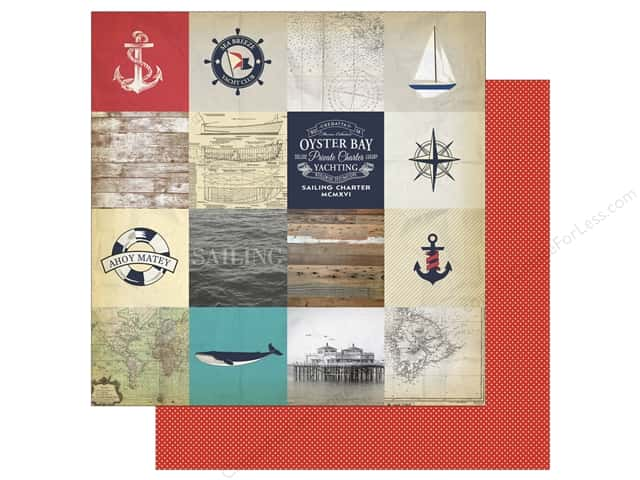 Carta Bella 12 x 12 in. Paper Yacht Club Sailing Cards (25 sheets)