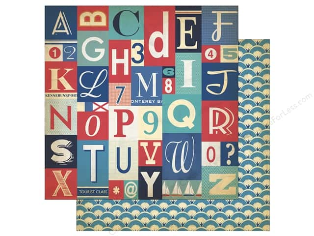 Carta Bella 12 x 12 in. Paper Yacht Club Alphabet Letters (25 sheets)