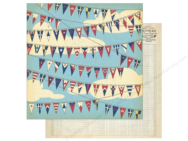 Carta Bella 12 x 12 in. Paper Yacht Club Nautical Flags (25 sheets)