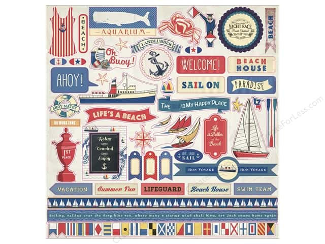 Carta Bella Stickers Yacht Club Element (15 sheets)
