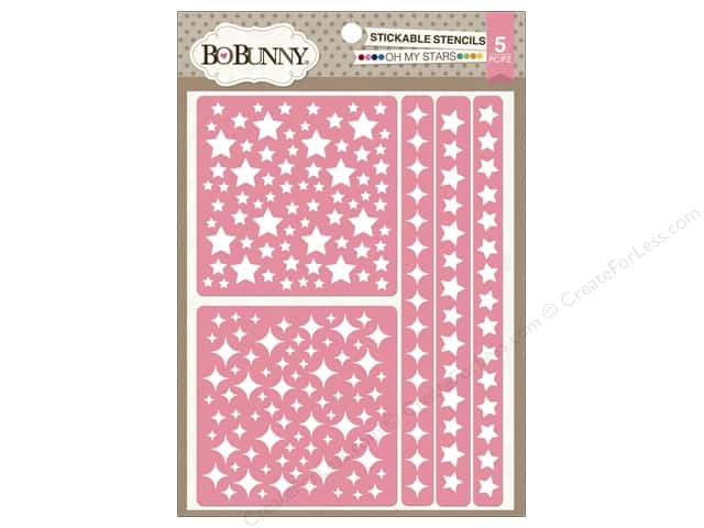 Bo Bunny Stickable Stencils Oh My Stars