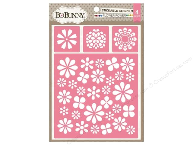 Bo Bunny Stickable Stencils Flower Power