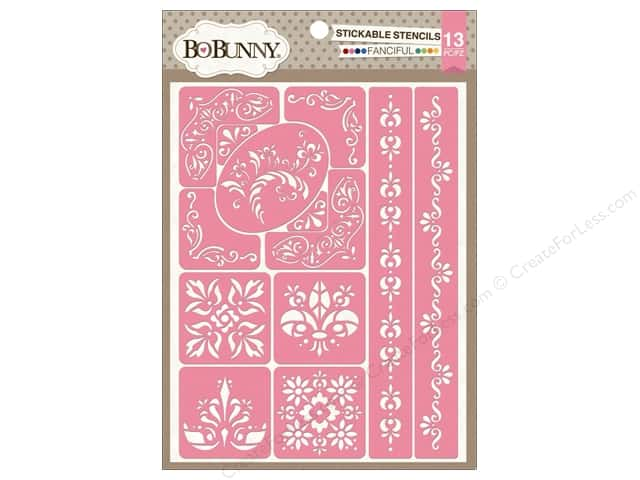 Bo Bunny Stickable Stencils Fanciful