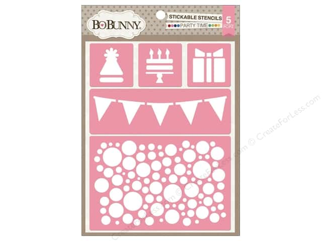 Bo Bunny Stickable Stencils Party Time