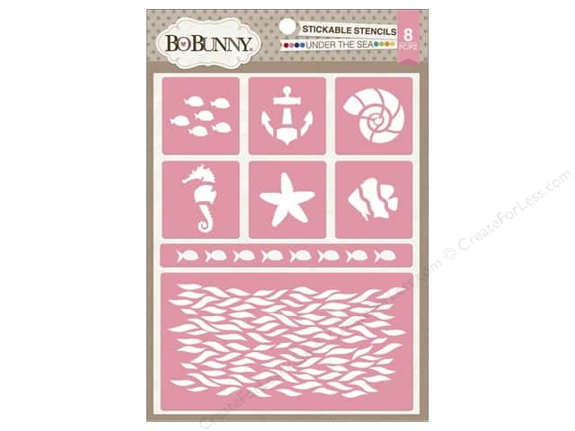 Bo Bunny Stickable Stencils Under The Sea
