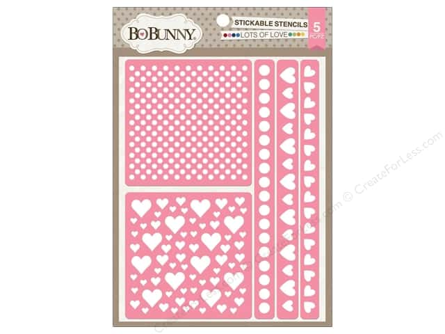 Bo Bunny Stickable Stencils Lots Of Love