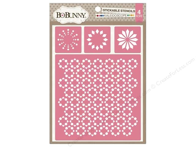 Bo Bunny Stickable Stencils Kaleidoscope