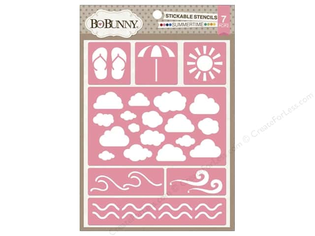 Bo Bunny Stickable Stencils Summertime