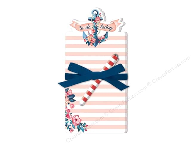 Lady Jayne Note Pad Die Cut With Pen Seaside Blooms