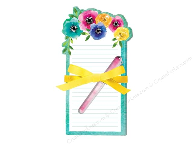 Lady Jayne Note Pad Die Cut With Pen Poppy Rose
