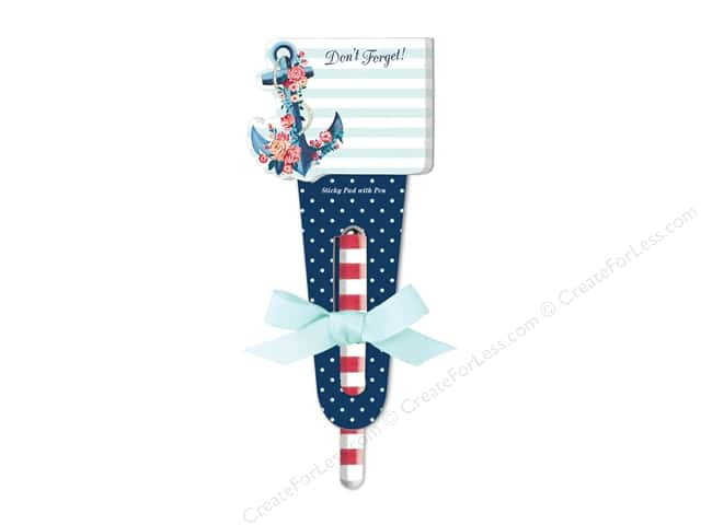 Lady Jayne Sticky Pad with Pen Seaside Blooms Anchor