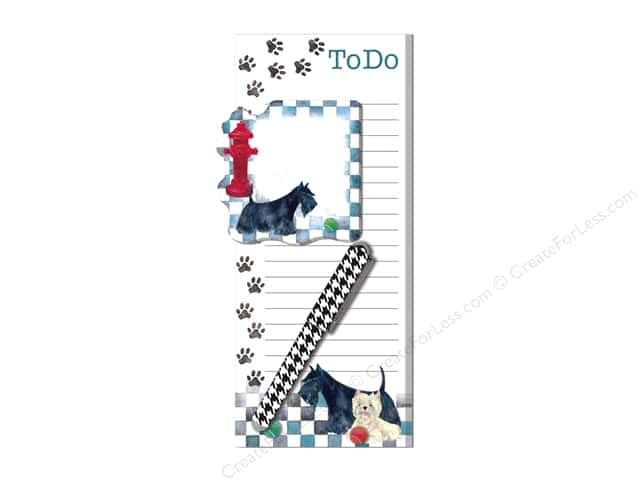 Lady Jayne Magnetic List Pad with Sticky Pad & Pen Checker Dogs