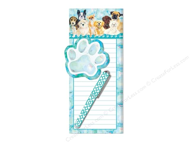 Lady Jayne Note Pad Magnetic List With Pen Doggy Family