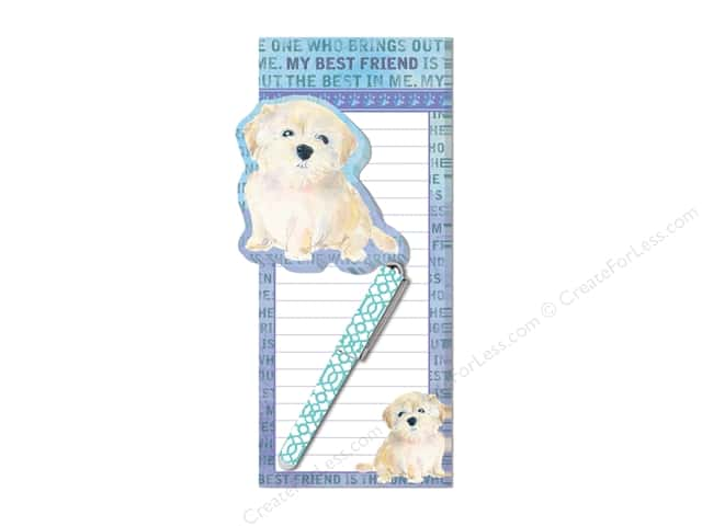 Lady Jayne Magnetic List Pad with Sticky Pad & Pen My BFF Dog