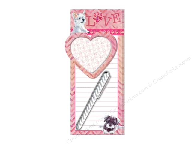 Lady Jayne Magnetic List Pad with Sticky Pad & Pen Puppy Love