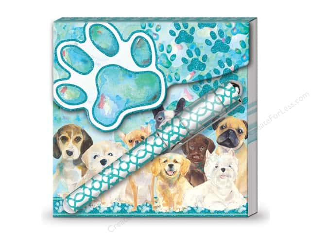 Lady Jayne Matchbook Pad with Pen Doggy Family