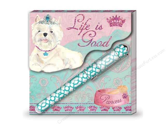 Lady Jayne Matchbook Pad with Pen Princess Pup