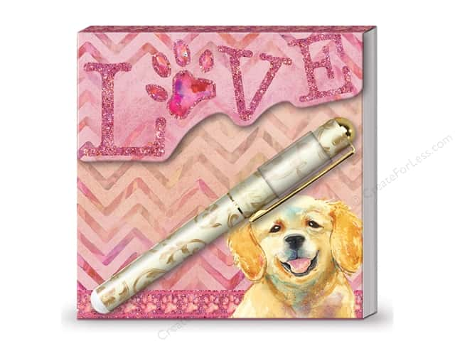 Lady Jayne Matchbook Pad with Pen Puppy Love