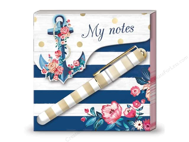 Lady Jayne Matchbook Pad with Pen Seaside Blooms