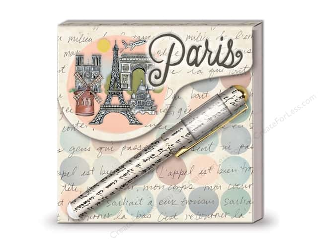 Lady Jayne Matchbook Pad with Pen Globe Trotting