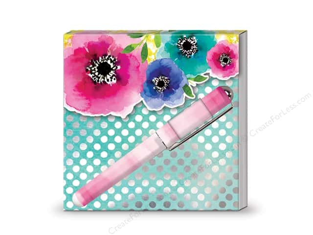 Lady Jayne Matchbook Pad with Pen Poppy Rose