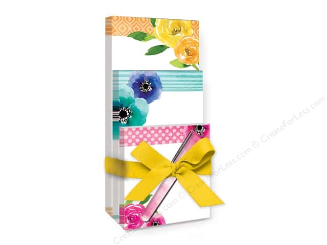 Lady Jayne Note Pad Tri With Pen Poppy Rose