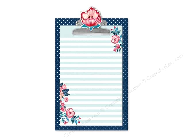 Lady Jayne Note Pad Clipboard Seaside Blooms