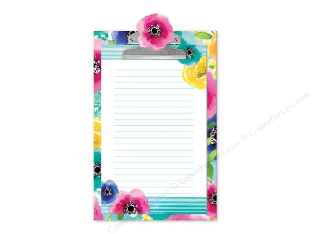 Lady Jayne Note Pad Clipboard Poppy Rose