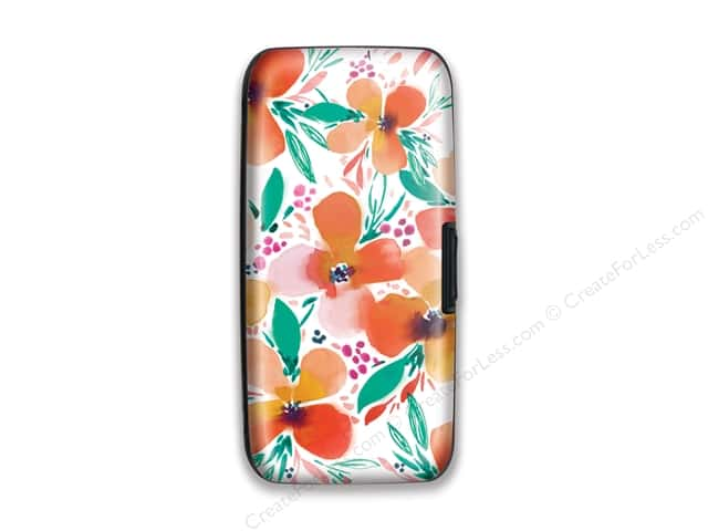 Lady Jayne Wallet Case Peach Jade Floral