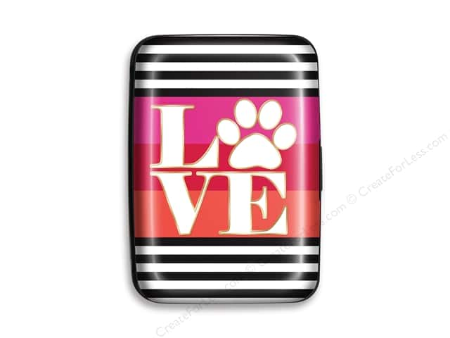 Lady Jayne Credit Card Case Love Paw Stripes