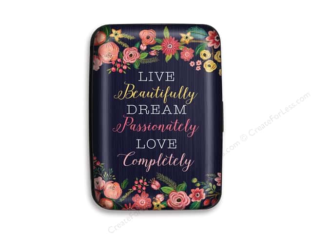 Lady Jayne Credit Card Case Navy Floral Live