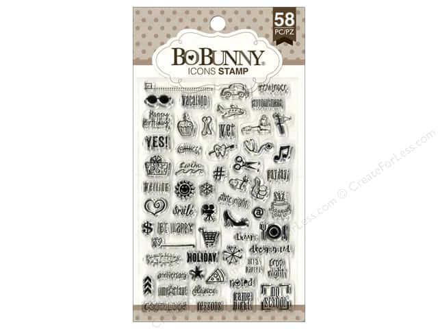 Bo Bunny Clear Stamps Icons