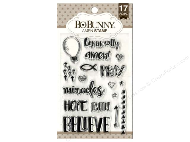 Bo Bunny Clear Stamps Amen