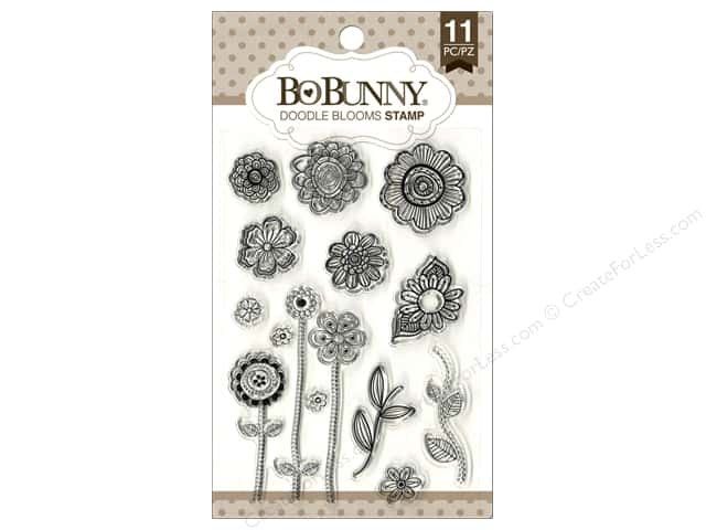 Bo Bunny Clear Stamps Doodle Blooms