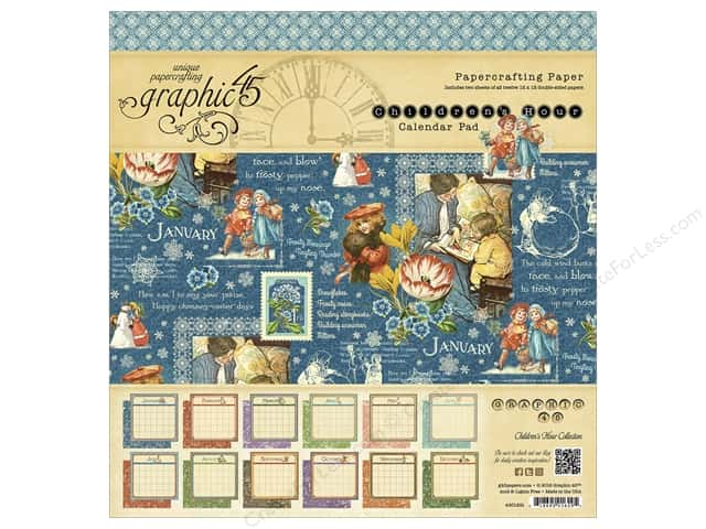 Graphic 45 12 x 12 in. Calendar Pad Children's Hour