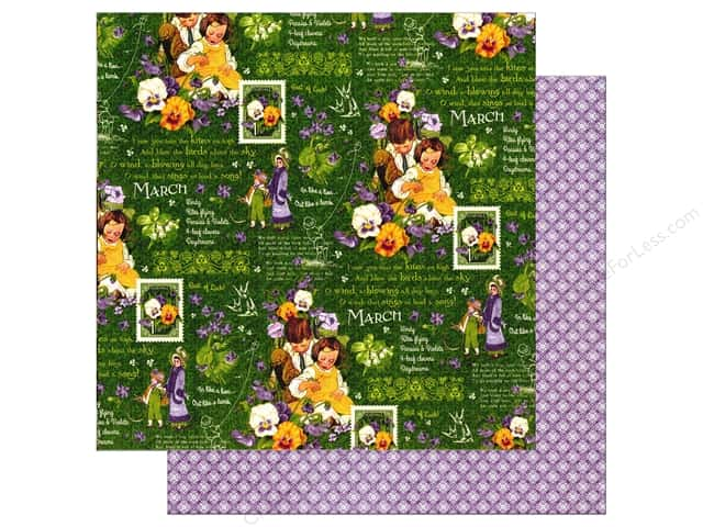 Graphic 45 12 x 12 in. Paper Children's Hour March Montage (25 sheets)