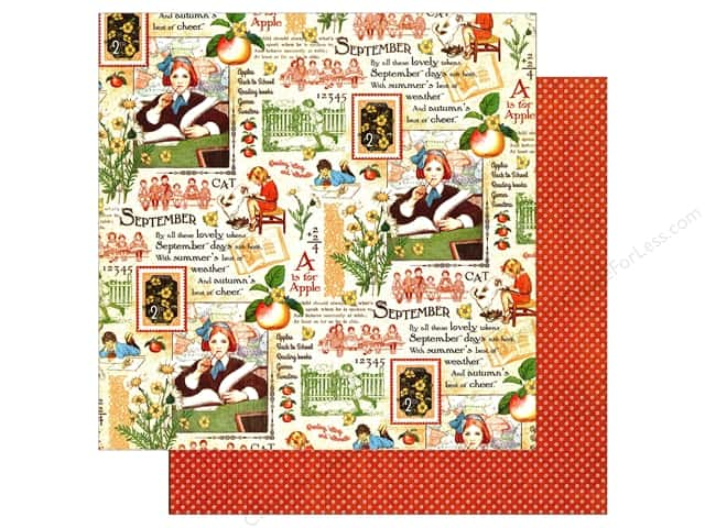 Graphic 45 12 x 12 in. Paper Children's Hour September Montage (25 sheets)