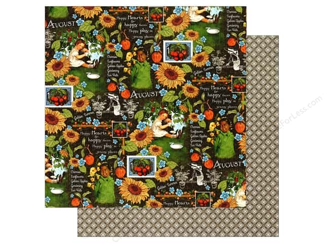 Graphic 45 12 x 12 in. Paper Children's Hour August Montage (25 sheets)