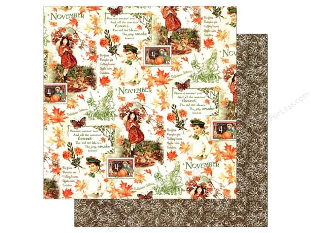Graphic 45 12 x 12 in. Paper Children's Hour November Montage (25 sheets)