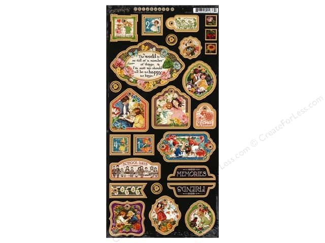 Graphic 45 Decorative Chipboard Children's Hour