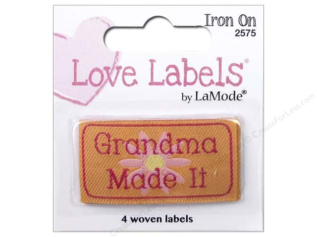 Blumenthal Iron-On Lovelabels 4 pc. Grandma Made It