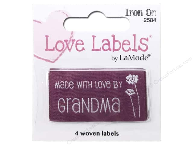 Blumenthal Iron-On Lovelabels 4 pc. Made With Love By Grandma