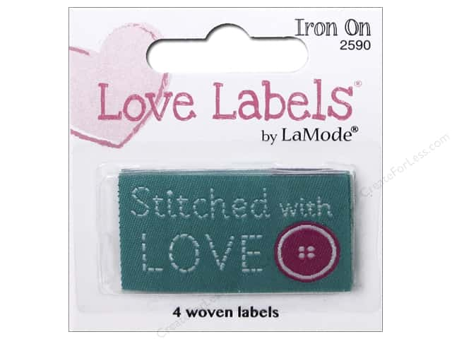 Blumenthal Iron-On Lovelabels 4 pc. Stitched With Love