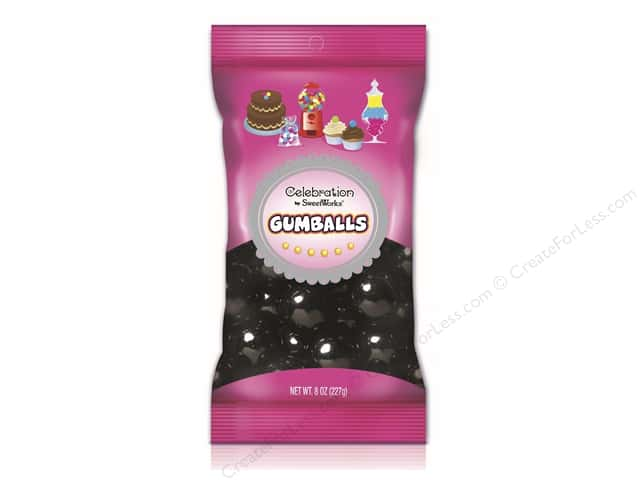 SweetWorks Celebration Gumballs 8 oz. Black