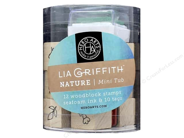 Hero Arts Rubber Stamp Mini Tub by Lia Griffith Nature