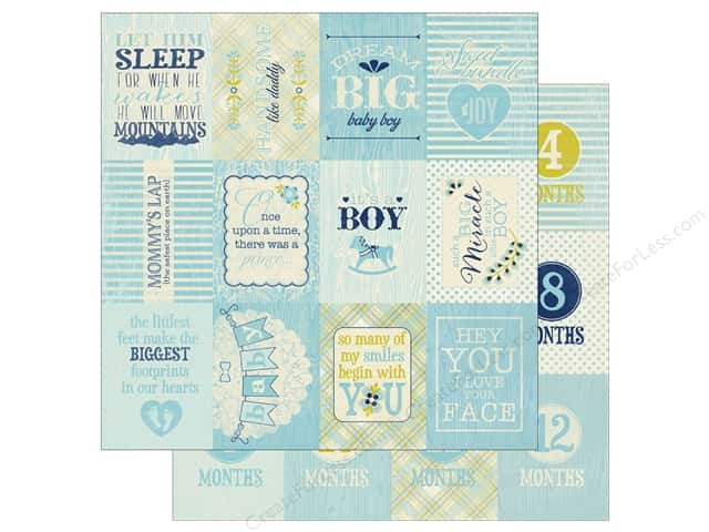 Authentique 12 x 12 in. Paper Cuddle Boy Six (25 sheets)