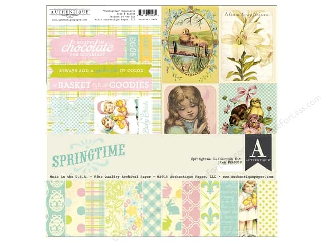 Authentique 12 x 12 in. Collection Kit Springtime