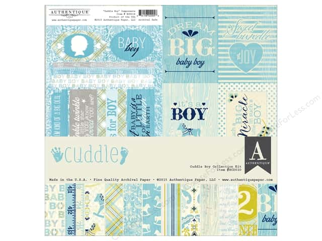 Authentique 12 x 12 in. Collection Kit Cuddle Boy