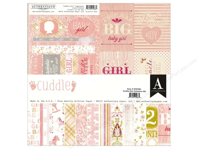 Authentique 12 x 12 in. Collection Kit Cuddle Girl