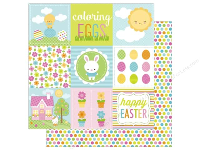 Doodlebug 12 x 12 in. Paper Bunnyville Coloring Eggs (25 sheets)